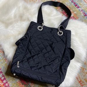 Baggallini Florence Quilted Tote Bag Black Travel